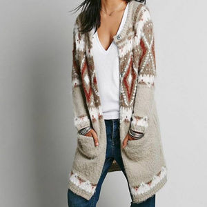 Free People Frosted Fair Isle Cardigan XS